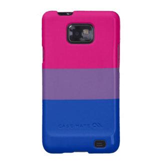 La bandera del BI vuela para el orgullo bisexual Samsung Galaxy SII Funda