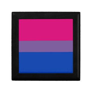 La bandera del BI vuela para el orgullo bisexual Cajas De Joyas