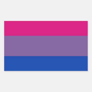 La bandera del BI vuela para el orgullo bisexual Pegatina Rectangular
