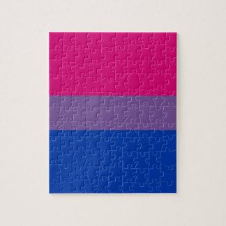 La bandera del BI vuela para el orgullo bisexual Rompecabezas