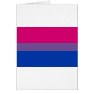 La bandera del BI vuela para el orgullo bisexual Felicitacion