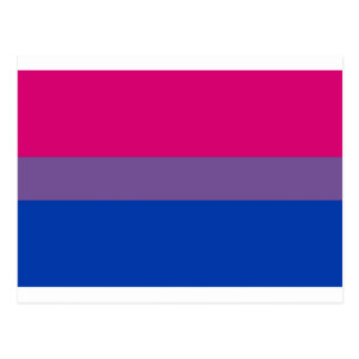 La bandera del BI vuela para el orgullo bisexual Postal