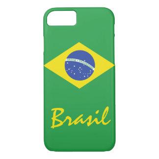 La bandera del Brasil con el texto nativo Funda iPhone 7