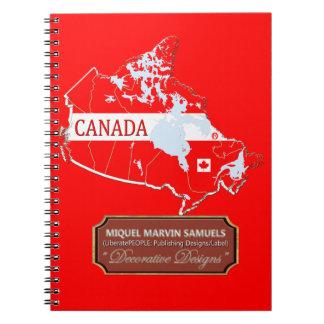 La bandera del esquema del país de Canadá colorea Cuaderno