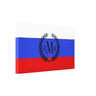 La bandera del ruso impresión en lienzo