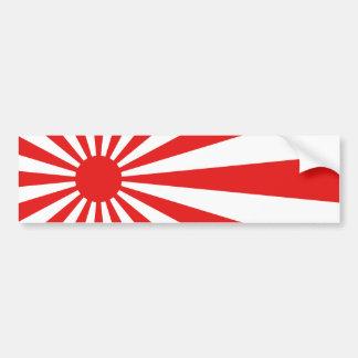 La bandera del sol naciente pegatina para coche