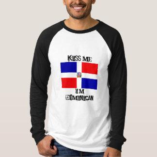 la bandera dominicana, me besa, yo es dominicana camisetas