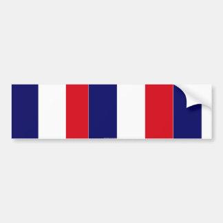 La bandera francesa colorea a la pegatina para el  pegatina para coche