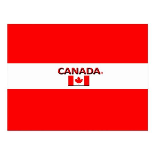 La bandera hermosa de Canadá colorea la postal