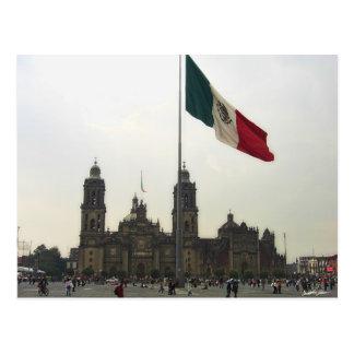 La Bandera Mexica de la estafa del EL Zocalo del D Tarjeta Postal