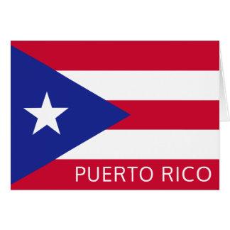 La bandera nacional de Puerto Rico Tarjeta Pequeña