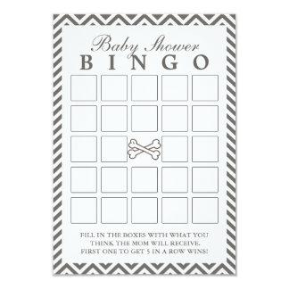 La bandera pirata Chevron raya tarjetas del bingo Invitación 8,9 X 12,7 Cm