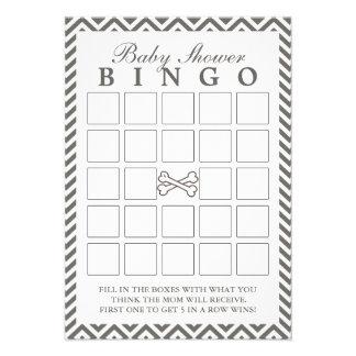 La bandera pirata Chevron raya tarjetas del bingo  Invitación Personalizada