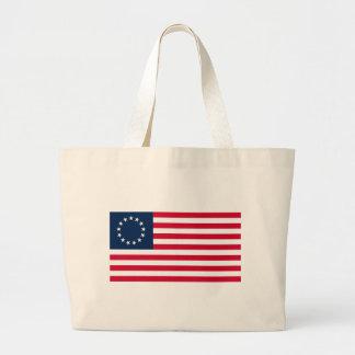 La bandera revolucionaria de Betsy Ross de la guer Bolsa Tela Grande