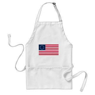 La bandera revolucionaria de Betsy Ross de la guer Delantal