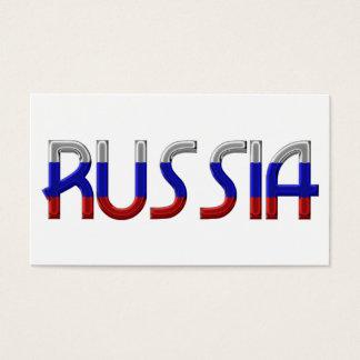 La bandera rusa de Rusia colorea tipografía Tarjeta De Negocios