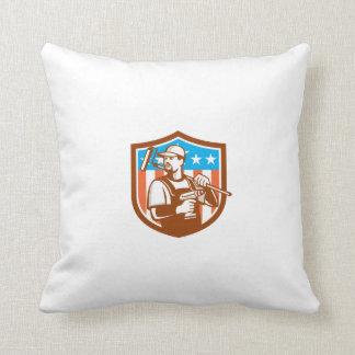 La bandera sin cuerda del escudo de Paintroller Cojín Decorativo