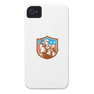 La bandera sin cuerda del escudo de Paintroller Funda Para iPhone 4 De Case-Mate