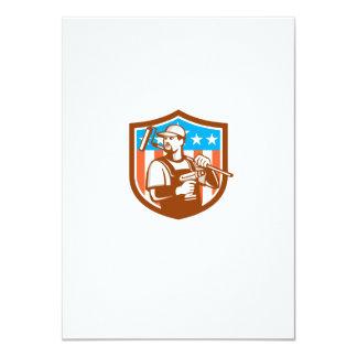 La bandera sin cuerda del escudo de Paintroller Invitación 11,4 X 15,8 Cm