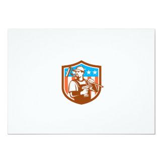 La bandera sin cuerda del escudo de Paintroller Invitación 12,7 X 17,8 Cm