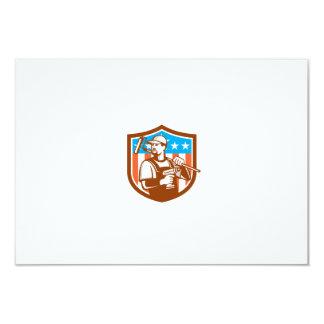 La bandera sin cuerda del escudo de Paintroller Invitación 8,9 X 12,7 Cm