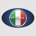 La Bandiera - la bandera italiana Pegatina Ovalada