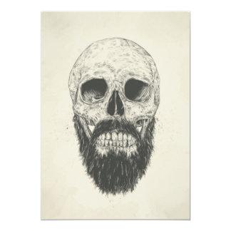 La barba no es muerta invitación 12,7 x 17,8 cm