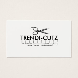 La barbería del peluquero Scissor la tarjeta de