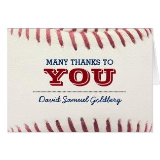 La barra Mitzvah del béisbol le agradece observar Tarjeta Pequeña