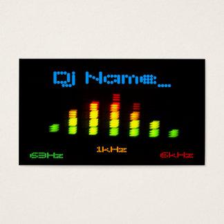 La barra personal EQ del equalizador de DJ - añada Tarjeta De Negocios