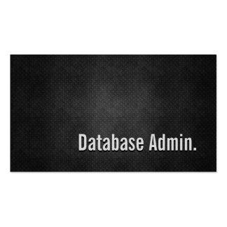 La base de datos Admin refresca simplicidad negra Tarjetas De Visita