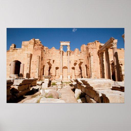 La basílica de Severan, Leptis Magna, Al Khums 2 Poster