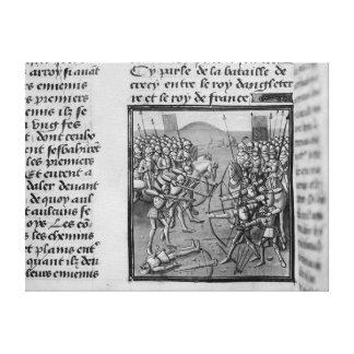 La batalla de Crecy en 1346 Lona Estirada Galerías