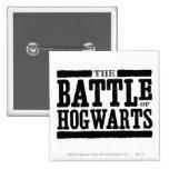 La batalla de Hogwarts Chapa Cuadrada 5 Cm