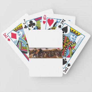 La batalla de Pydna de Andrea del Verrocchio Baraja Cartas De Poker