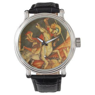 La batalla de San Jorge con el dragón Relojes