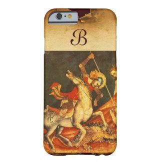 La batalla de San Jorge con el monograma del Funda Para iPhone 6 Barely There