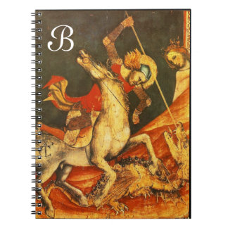 La batalla de San Jorge con el monograma del Libros De Apuntes