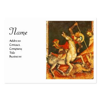 La batalla de San Jorge y monograma del dragón bl Plantillas De Tarjeta De Negocio