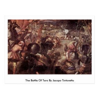 La batalla del taro de Jacopo Tintoretto Postal