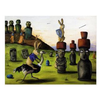 La batalla sobre la isla de pascua postal