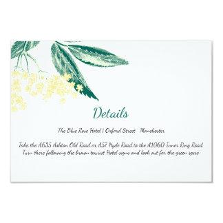 La baya del saúco florece direcciones del boda del invitación 8,9 x 12,7 cm
