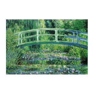 La bella arte escénica del puente japonés
