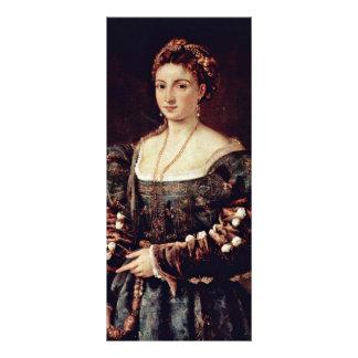 La Bella (retrato de una señora Isabel D'Este y Folleto Publicitario 10 X 22,8 Cm