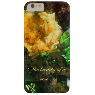 La belleza de un color de rosa funda barely there iPhone 6 plus