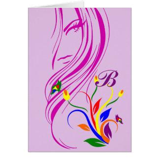 La belleza es una tarjeta del estímulo de la