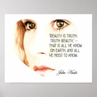 La belleza es verdad - John Keats - impresión del