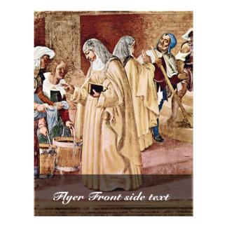 La bendición de St. Clare por la loteria Lorenzo ( Folleto 21,6 X 28 Cm