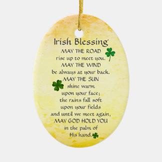 La bendición irlandesa puede el camino alzarse, adorno de cerámica