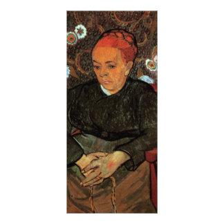 La Berceuse Augustine Roulin de Vincent van Gogh Tarjetas Publicitarias A Todo Color